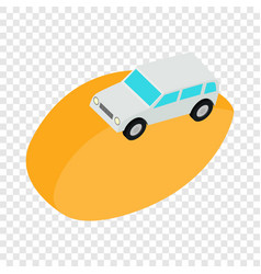 desert car isometric icon vector image