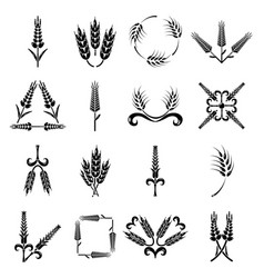 Ear corn icons set simple style vector