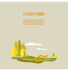 Eco nature 03 vector image vector image