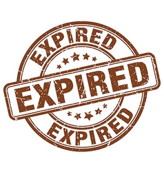 Expired brown grunge round vintage rubber stamp vector