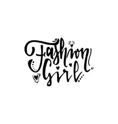 Fashion girl calligraphic patch unique custom vector