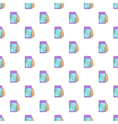 Futuristic transparent mobile smartphone pattern vector image