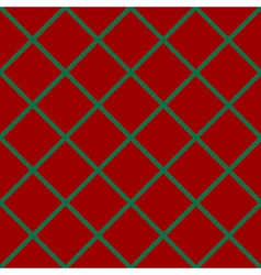 Green grid chess board diamond red background vector