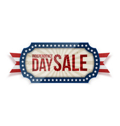 independence day sale banner on white background vector image