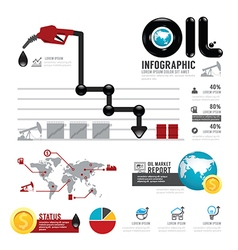 Infographic oil business of the world with icons vector image