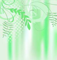 Leaf spring banner vector image vector image