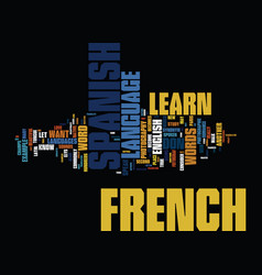 learn a new language should you learn french or vector image vector image