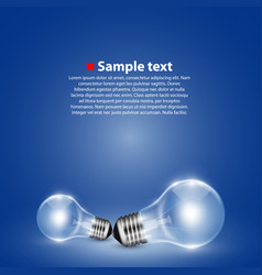light bulb on background vector image vector image