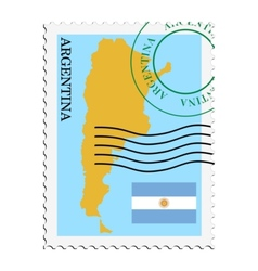 Mail to-from argentina vector