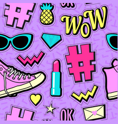 Neon pop background 80s 90s vector