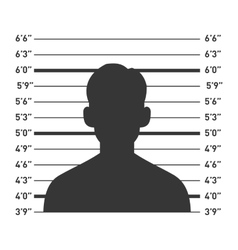 Police lineup with man silhouette vector