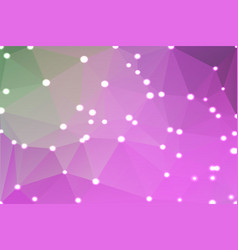 Purple green pink geometric background with lights vector