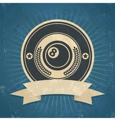 Retro Eight Ball Emblem vector image vector image
