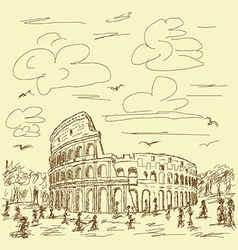 rome colosseum vintage vector image