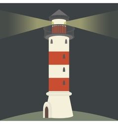 Single lighthouse vector image vector image