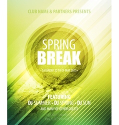 Spring Break Party Template poster vector image