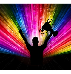 success with trophy vector image vector image