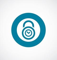 Time lock icon bold blue circle border vector