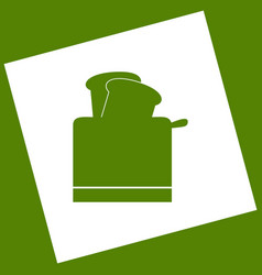 Toaster simple sign white icon obtained vector