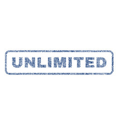 Unlimited textile stamp vector