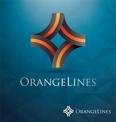 V 000151 Orange Lines vector image