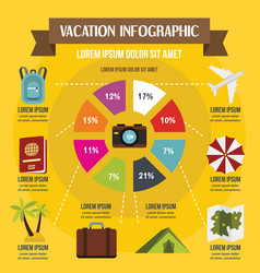 Vacation infographic concept flat style vector