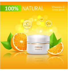 100 natural cream with vitamin c vector image