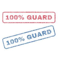 100 percent guard textile stamps vector