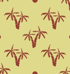 Seamless pattern background with hand drawn palm vector