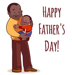 A father holding son in his arms Element cards for vector image