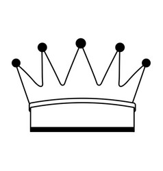 Crown king isolated icon vector