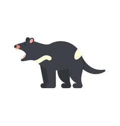 Flat style of tasmanian devil vector