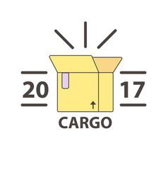 Delivery service parcel post box icon vector