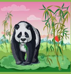 Cartoon asian animal template vector
