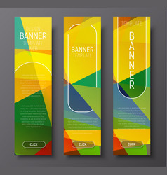 Set of vertical web banners with abstract vector