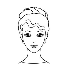 Avatar of a girl with brown hairavatar and face vector