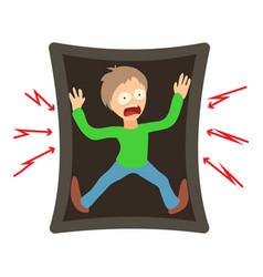 tafofobia concept cartoon vector image