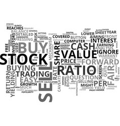 when to buy and sell text word cloud concept vector image
