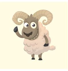 Cute cartoon sheep mascot vector