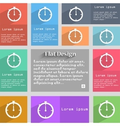 Timer sign icon stopwatch symbol set of colourful vector