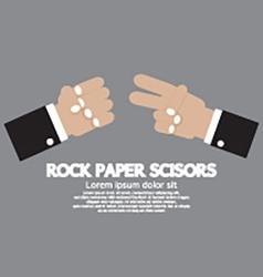 Rock paper scissors hand game vector
