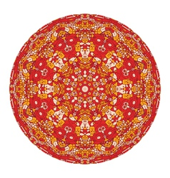 Red mandala vector