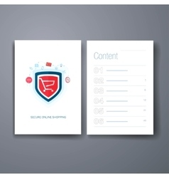 Modern web and online shopping security flat icon vector