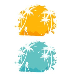 tropic back set vector image