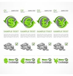 Money symbol infographic vector image
