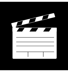 Film clap board cinema icons vector