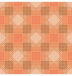 Pattern pastel red background with rhombus squares vector