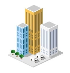 Isometric in a big city vector