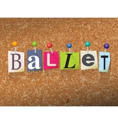 Ballet concept vector