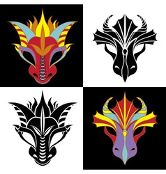 Dragon mask vector